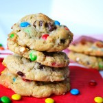 Pretzel and M&M Coconut Chocolate Chip Cookies