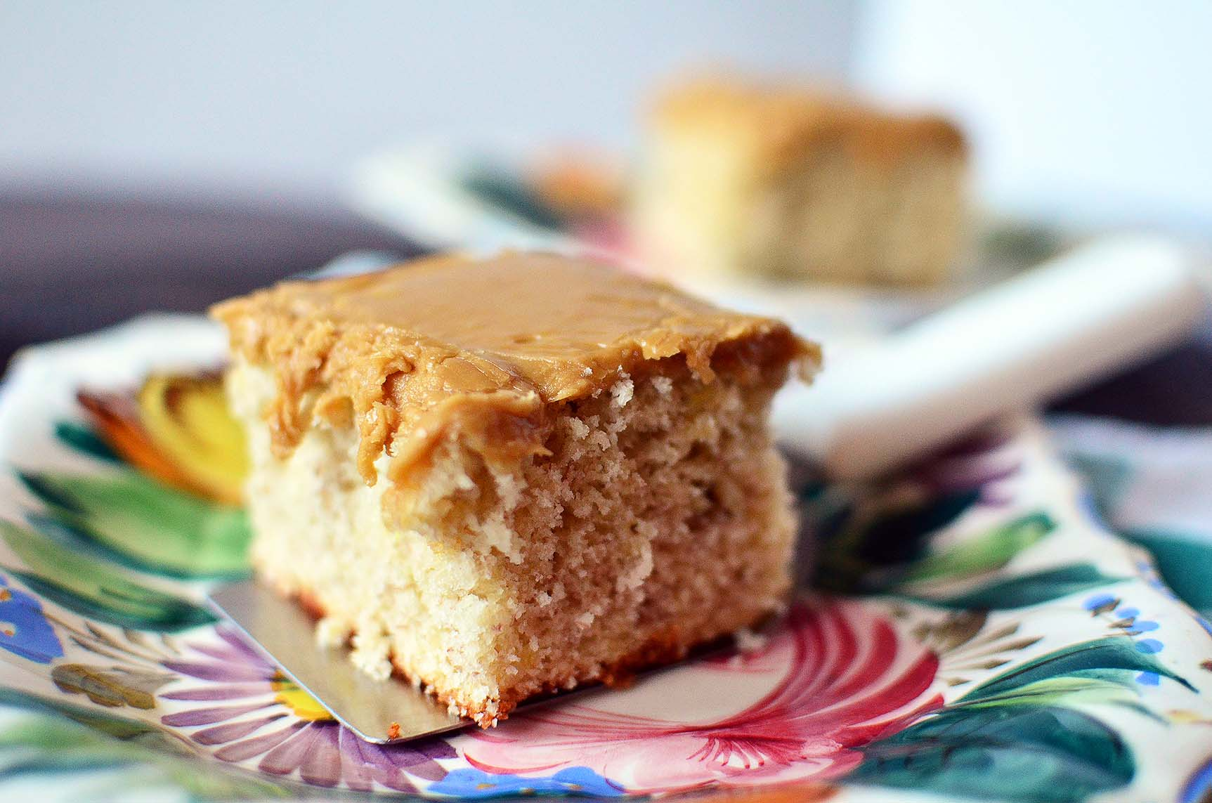 Banana Cake with Caramel Frosting - Simple, Sweet & Savory