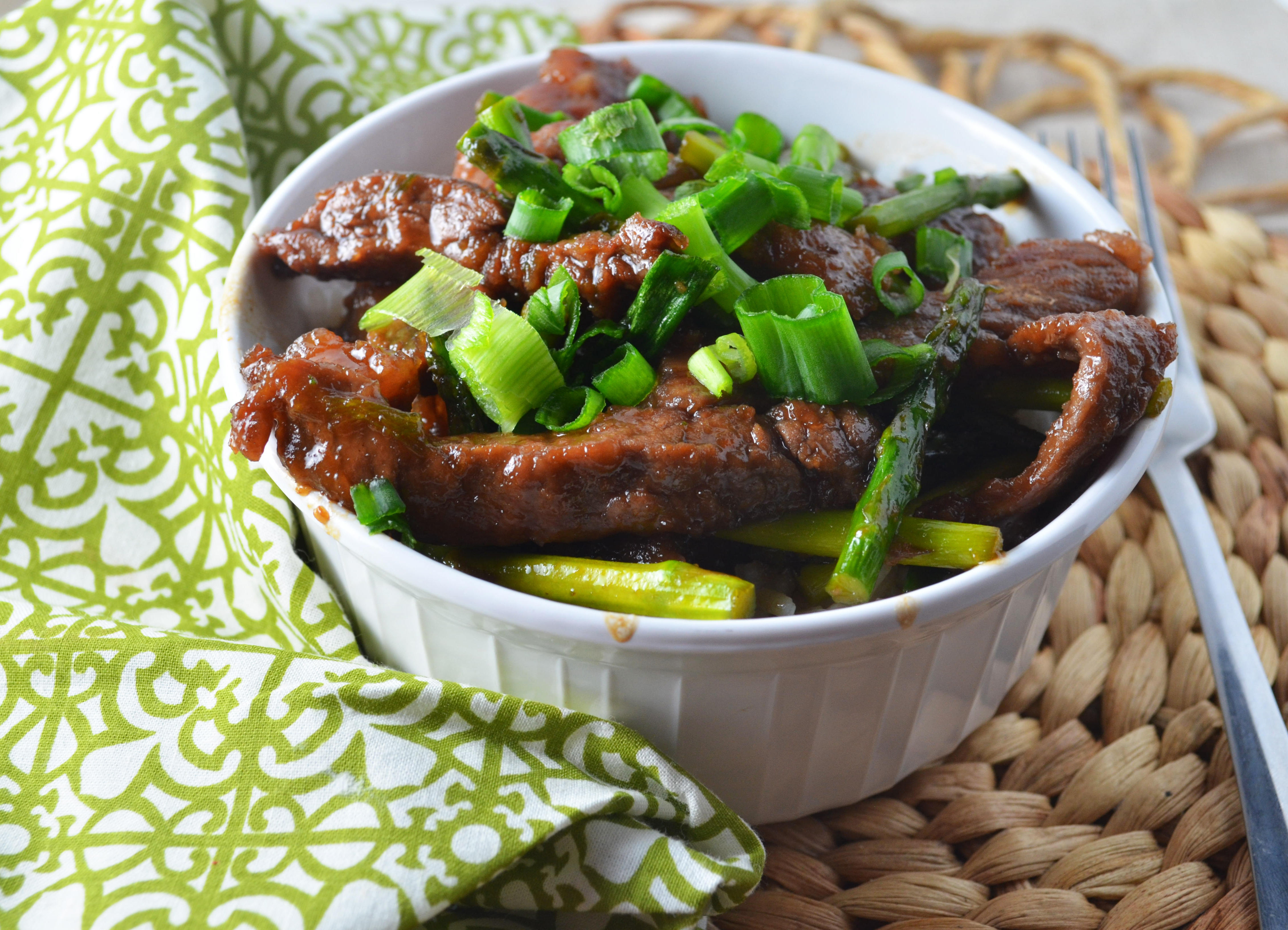 Mongolian Beef With Asparagus