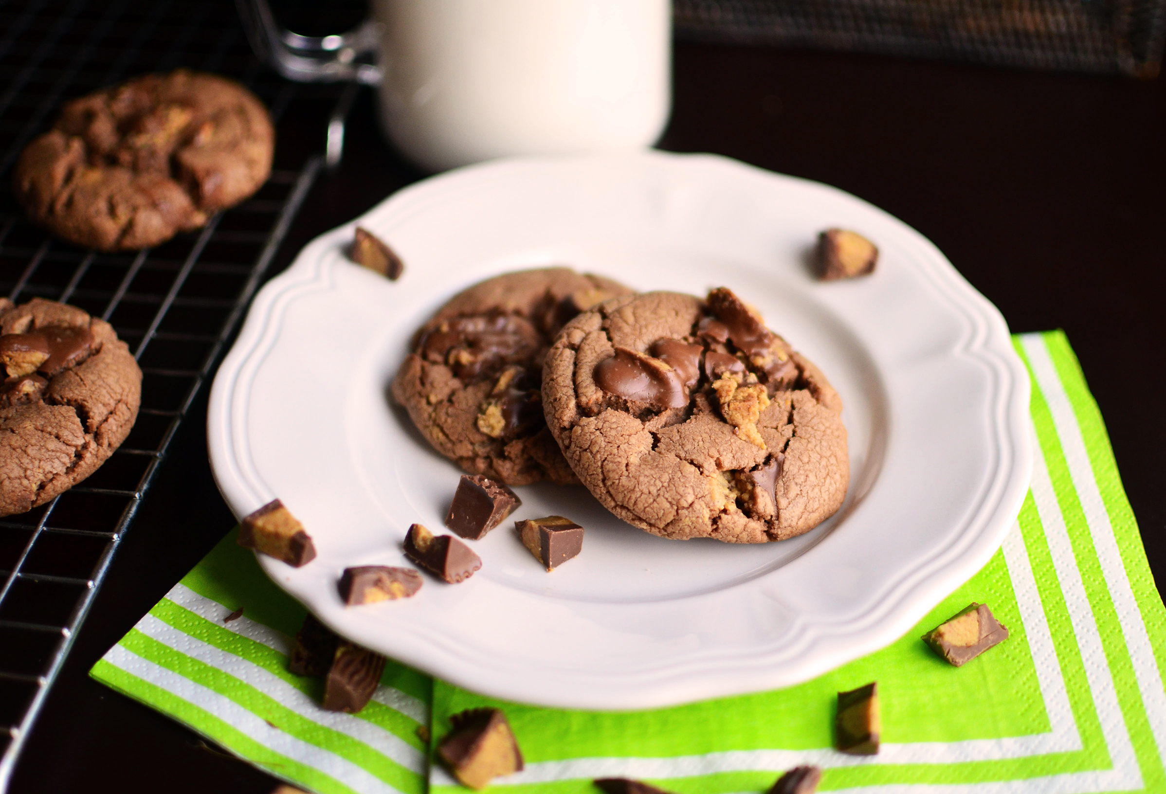 Chocolate Peanut Butter Cup Cookies - Simple, Sweet & Savory