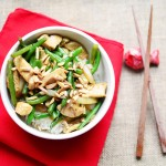 String Bean Chicken Stir-Fry with Toasted Almonds