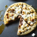 Grilled Salted Caramel S'mores Pizza