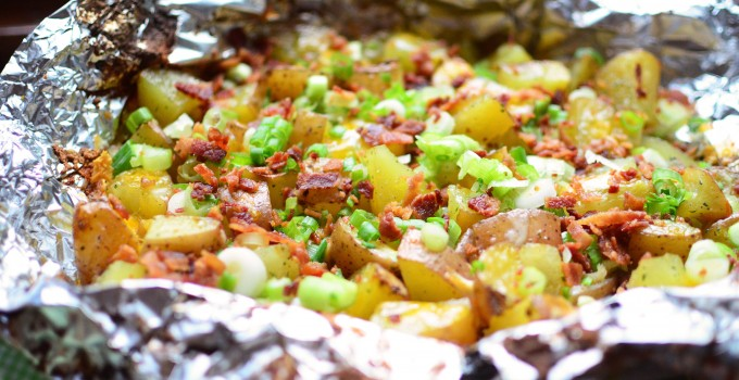 Foil Grilled Loaded Potatoes