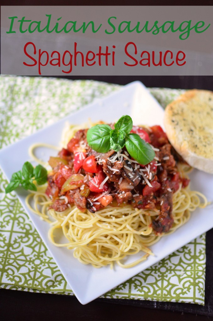 Sausage Spaghetti Sauce tall text