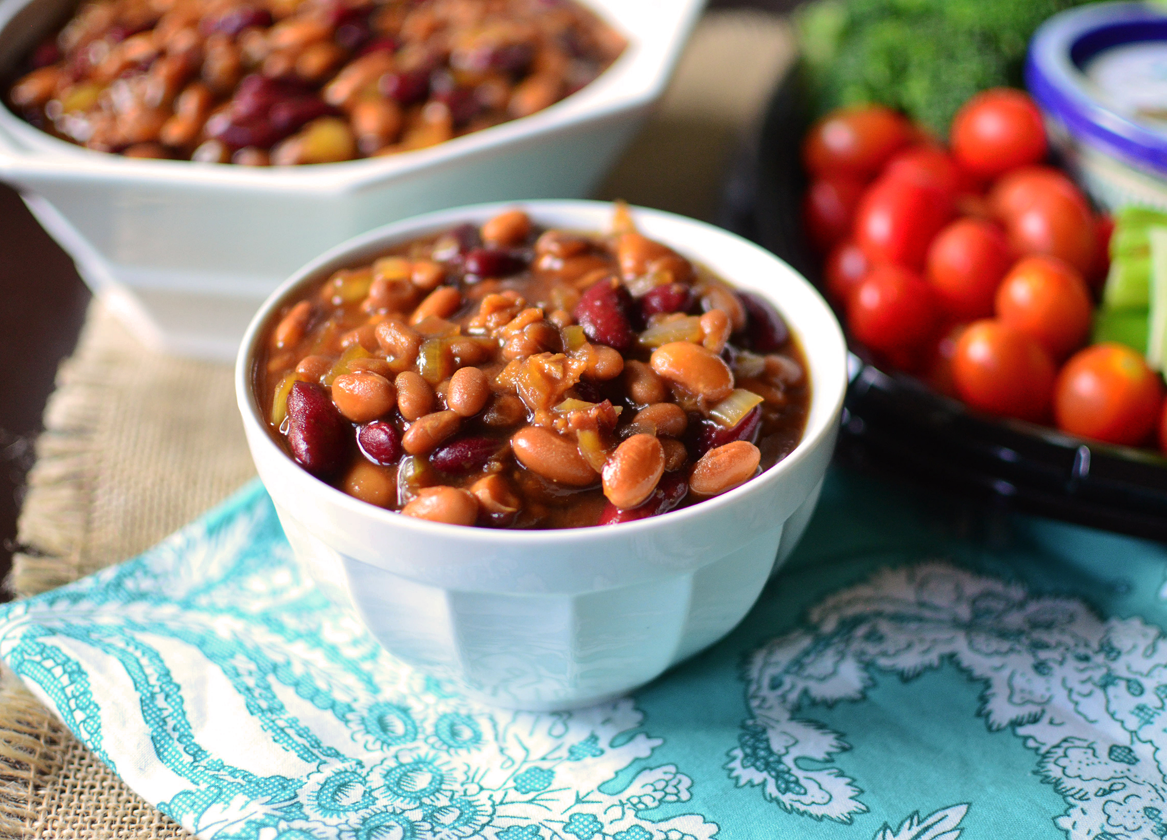 Slow Cooker Baked Beans Wide