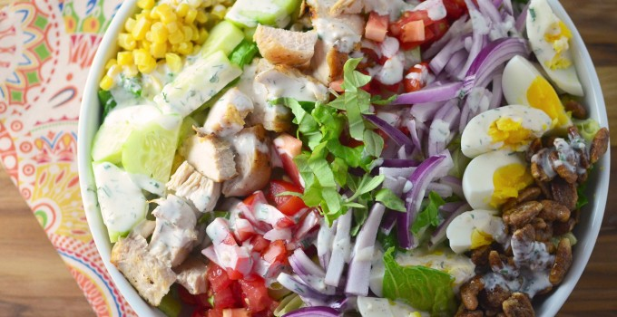 Southern Chicken Salad with Homemade Ranch