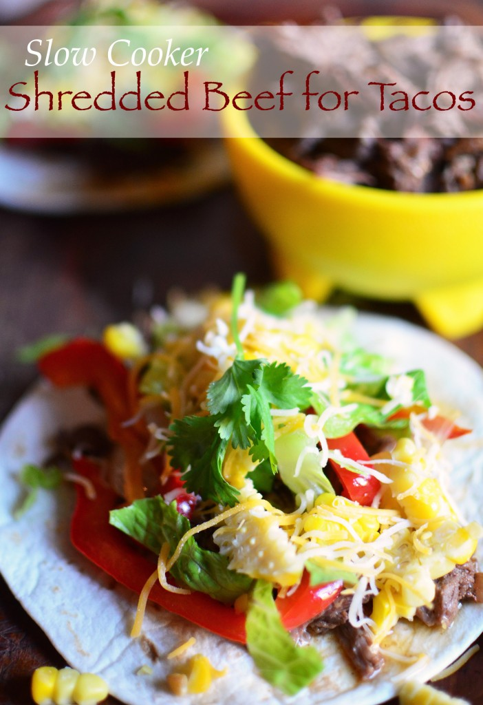 Slow Cooker Beef for Tacos tall text