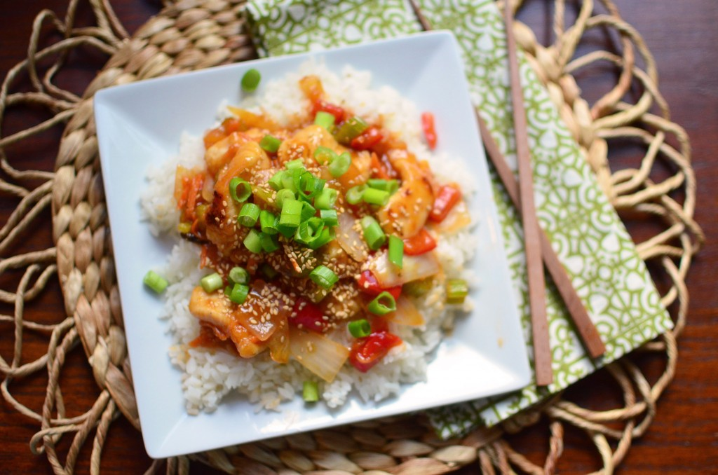 Sweet and Sour Chicken wide aerial
