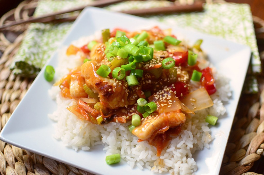 Sweet and Sour chicken wide