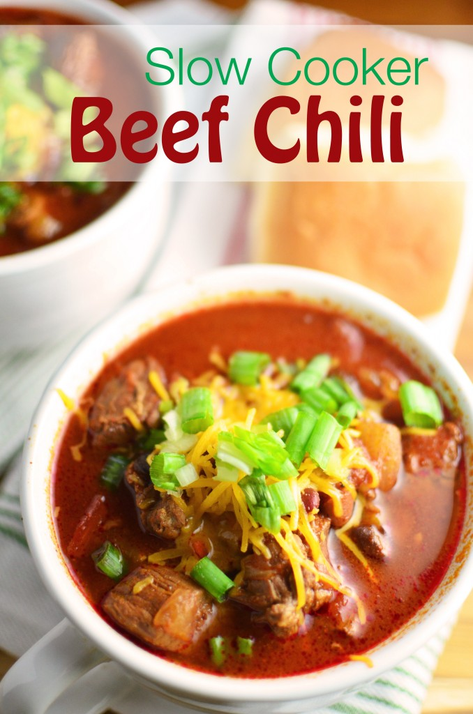Slow Cooker Beef Chili tall
