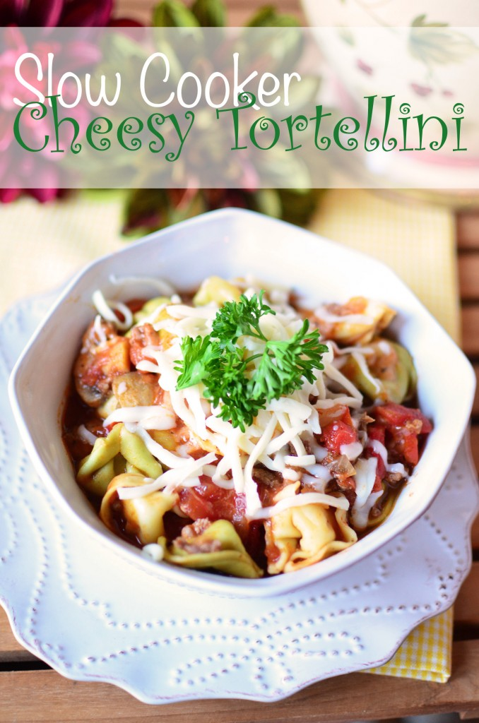 Slow Cooker Cheesy Tortellini Tall text