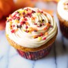 Pumpkin Spice Cupcakes with Caramel Frosting