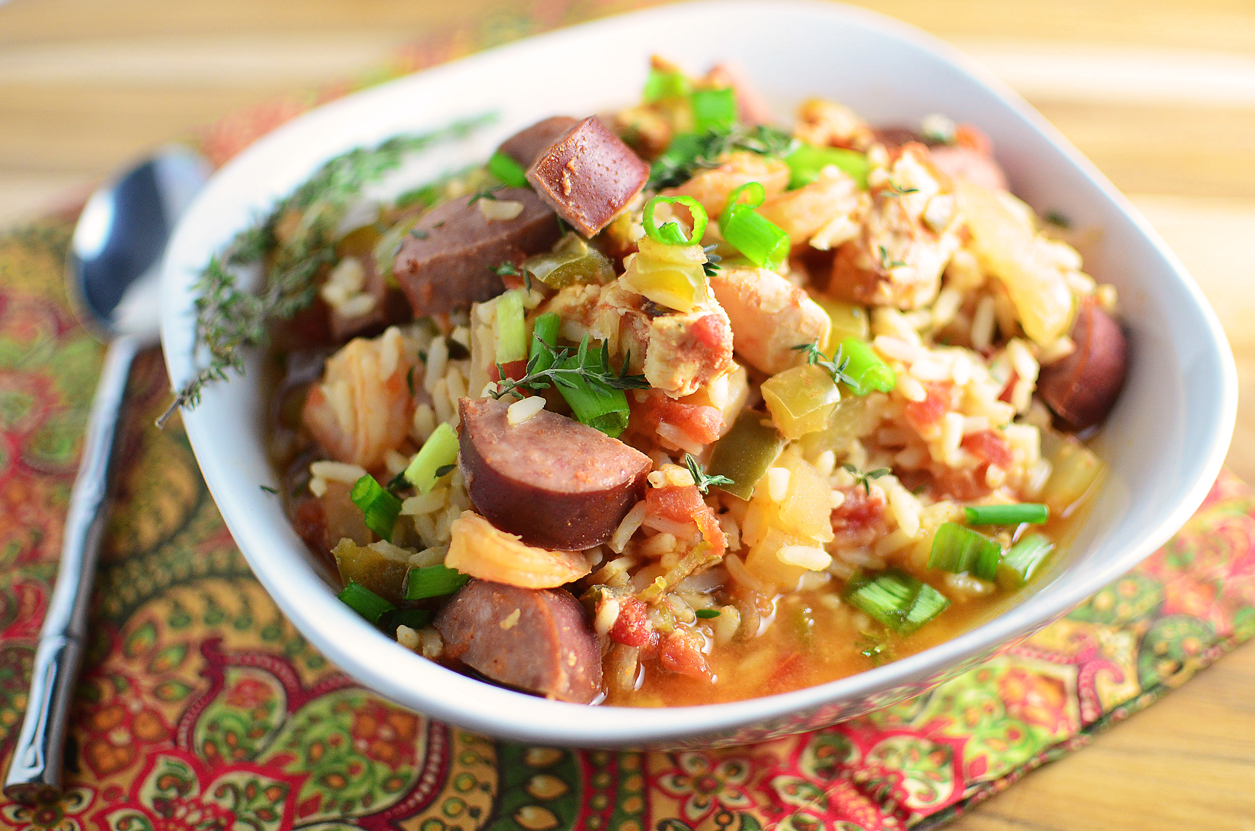 Slow cooker chicken jambalaya simple sweet savory slow cooker chicken jambalaya forumfinder Images