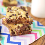 Double Chocolate Peanut Butter Cookie Bars