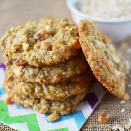 Oatmeal Coconut Vanilla Chip Cookies wide