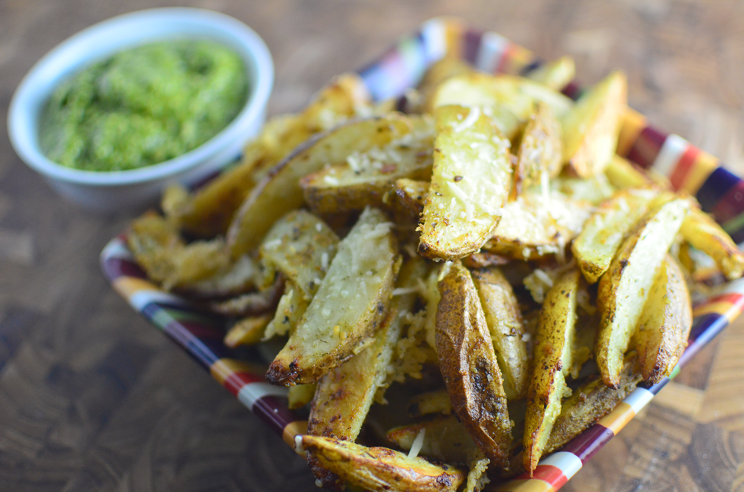 Pesto Parmesan Oven Fries 3