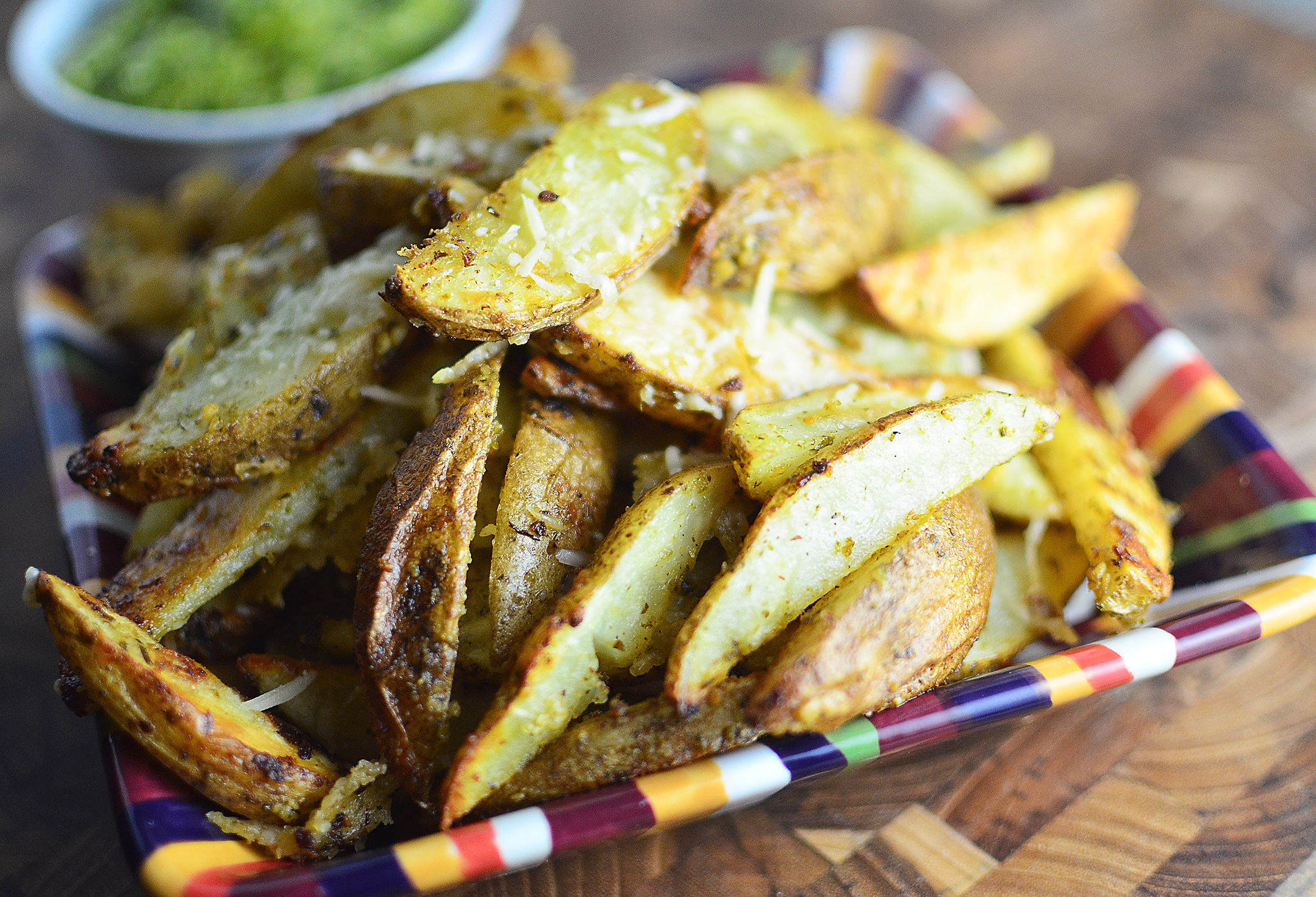Pesto Parmesan Oven Fries