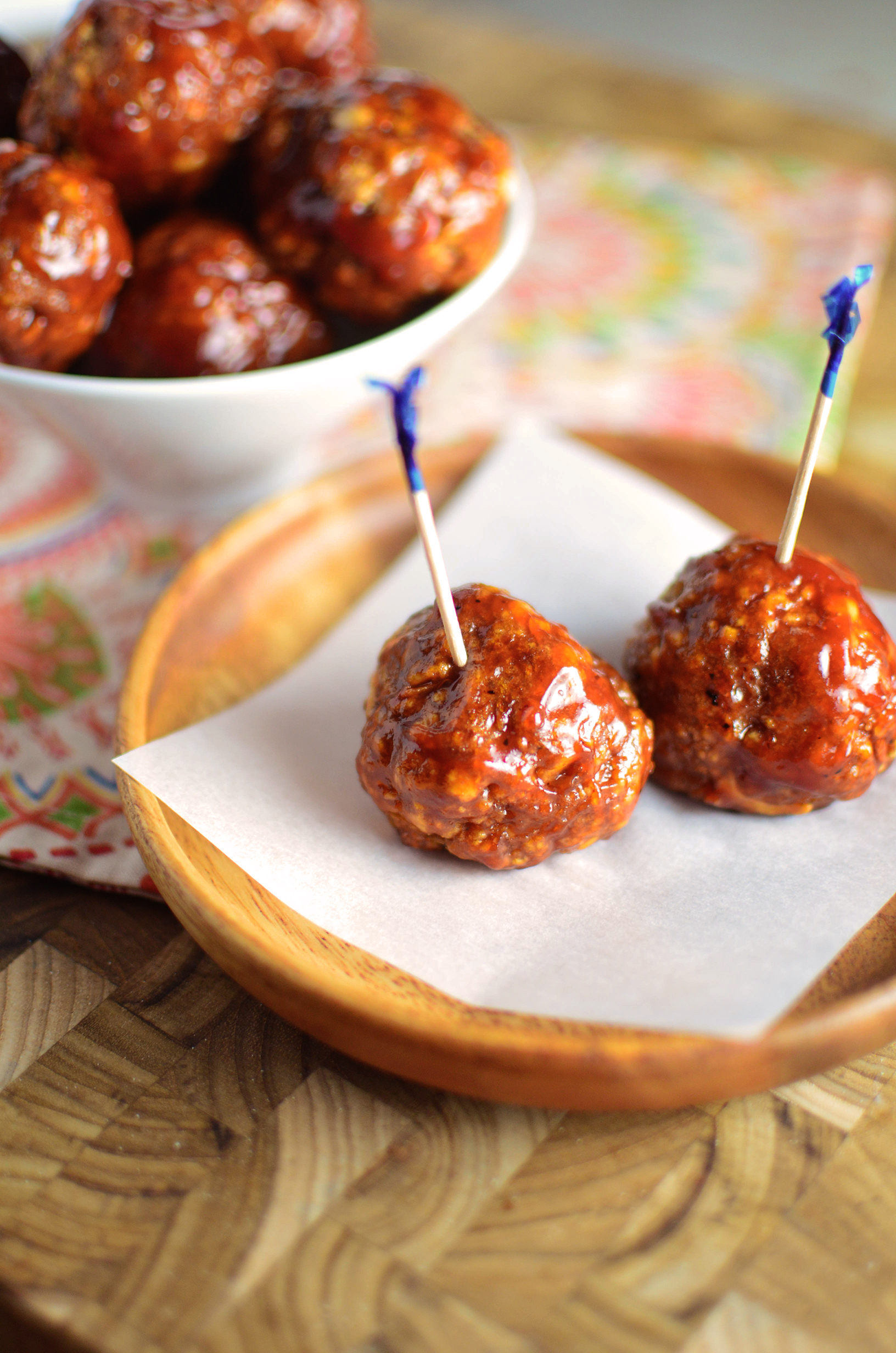 Baked BBQ Turkey Meatballs tall