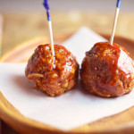 Baked BBQ Turkey Meatballs