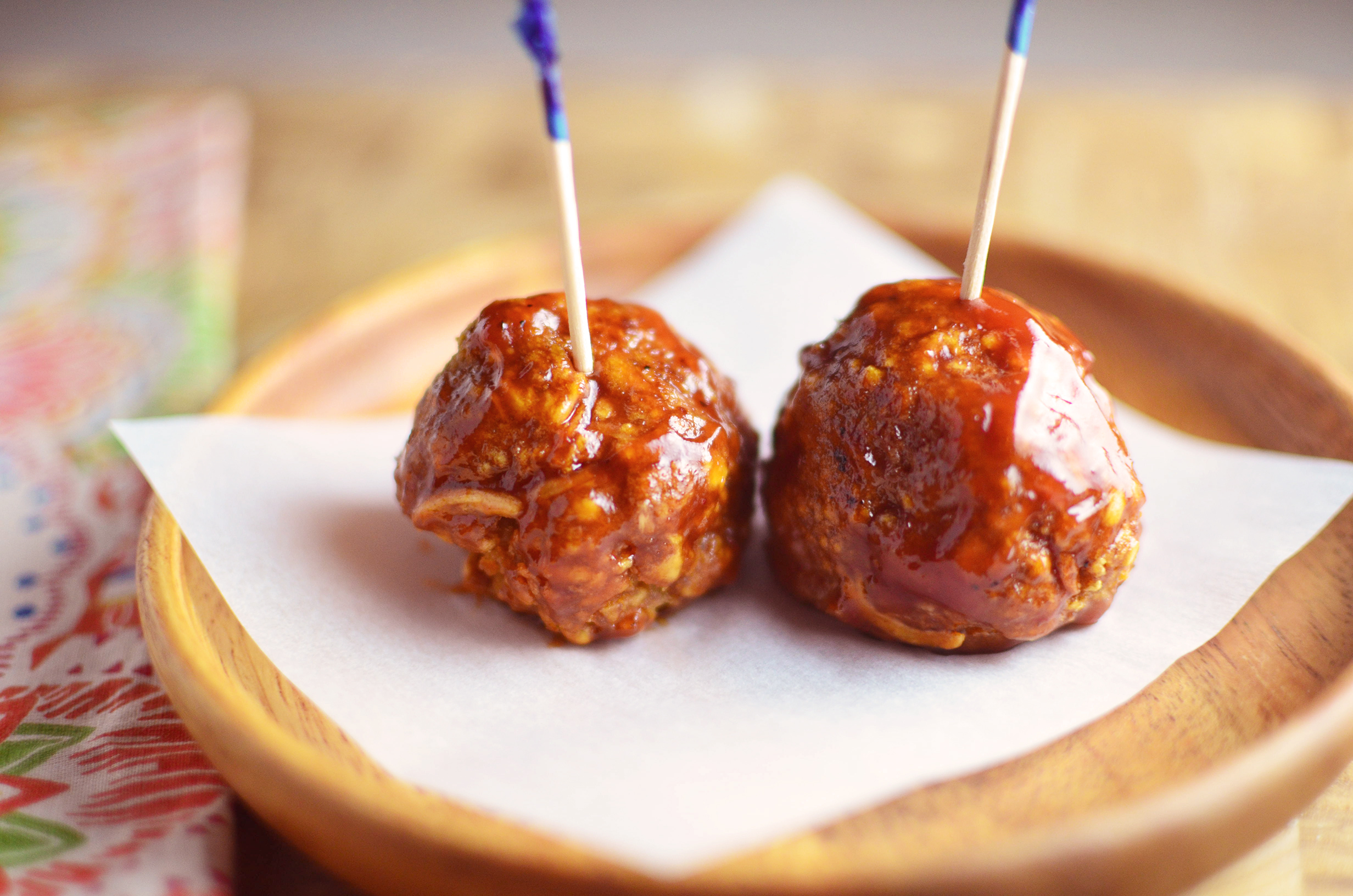 Baked BBQ Turkey Meatballs two