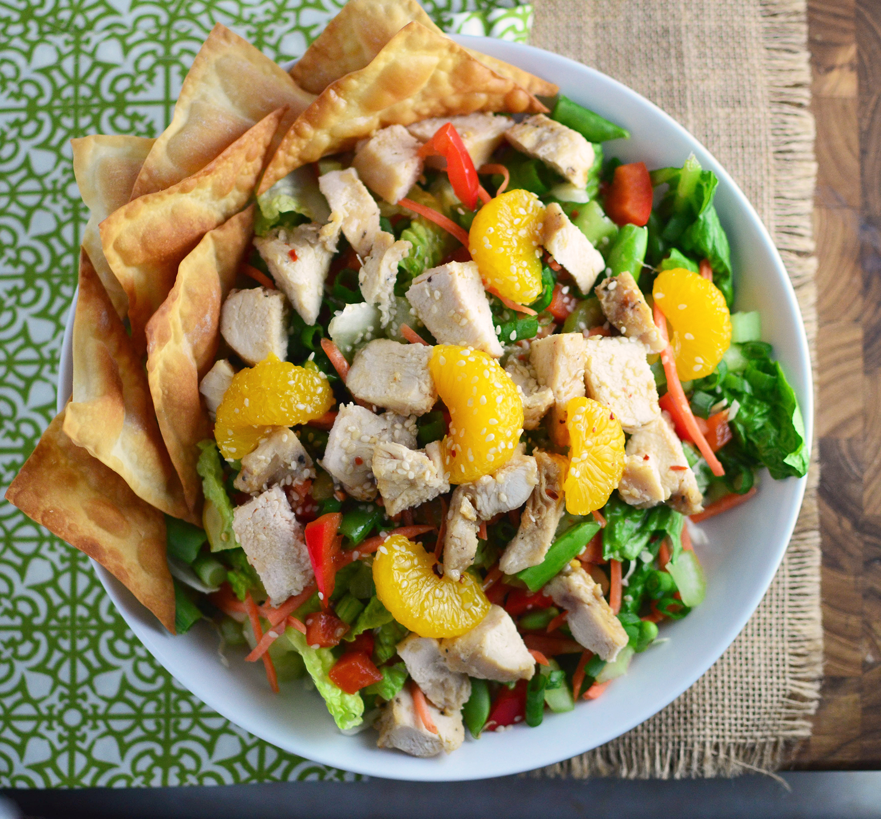 Chinese Sesame Chicken Salad aerial square