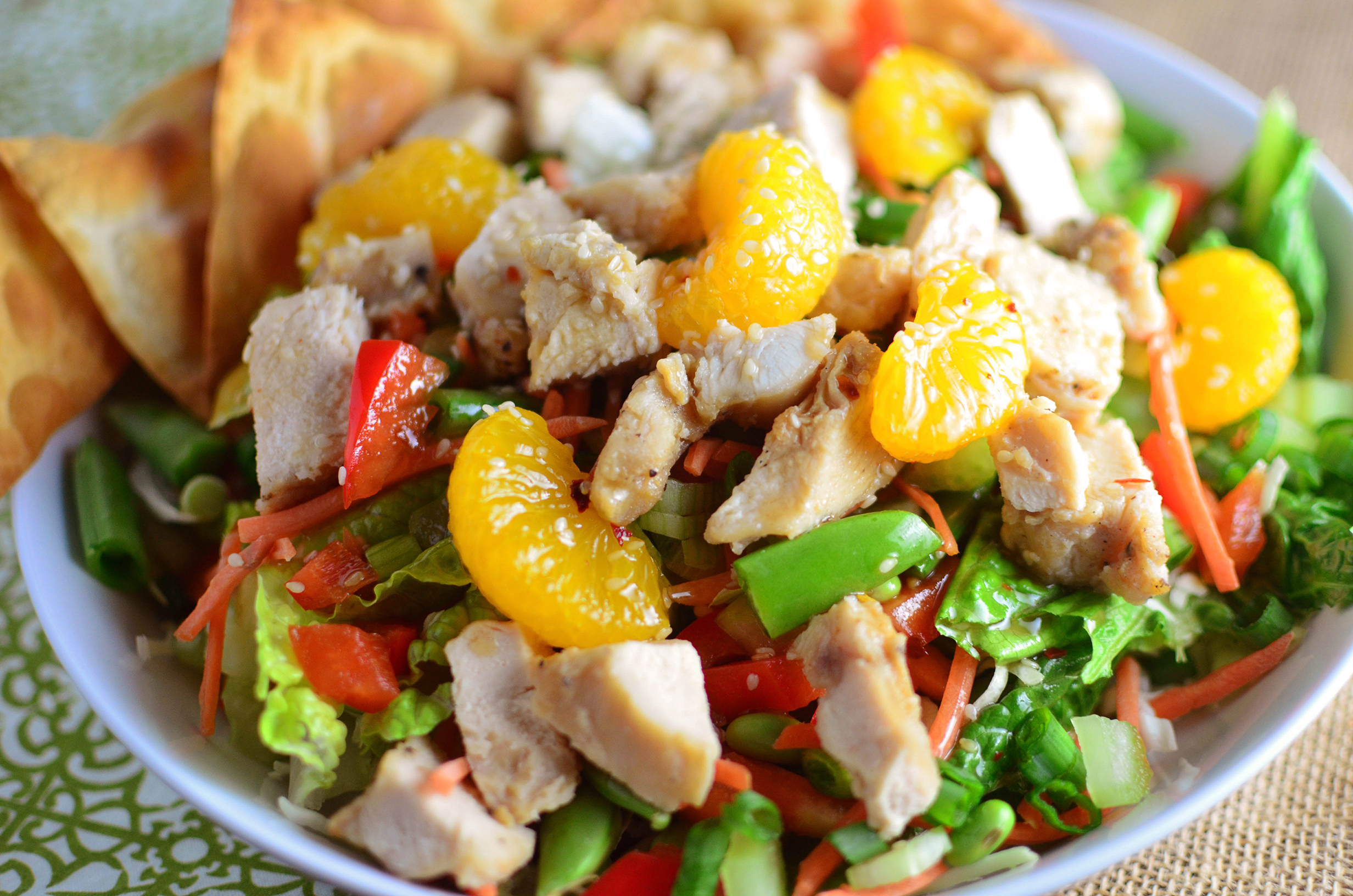 Chinese Sesame Chicken Salad Simple Sweet Savory