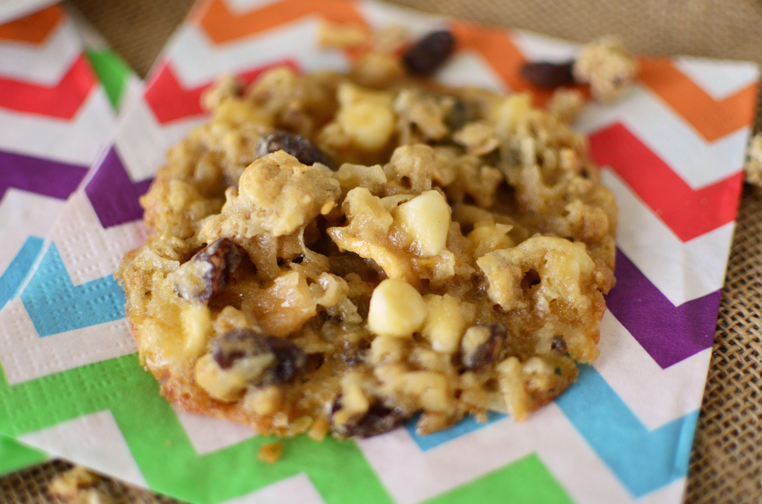 Loaded Trail Mix Cookies napkin