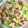 Chicken Caesar Salad with Homemade Croutons