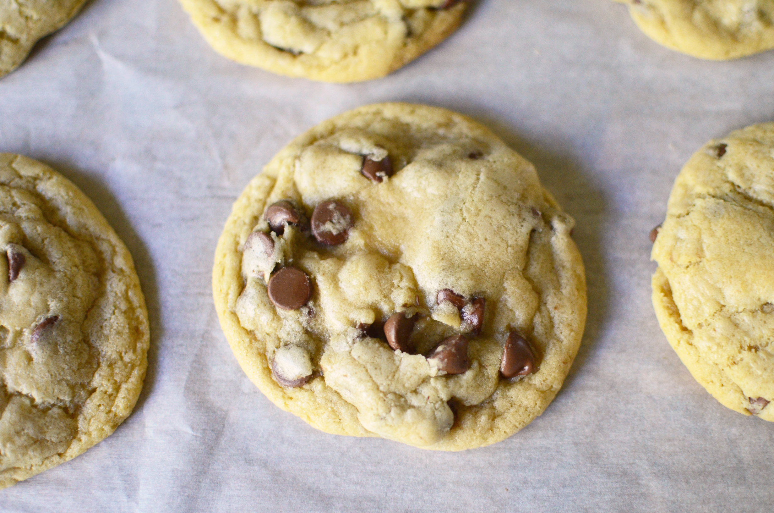 Big and Chew Chocolate Chip Cookies aerial group