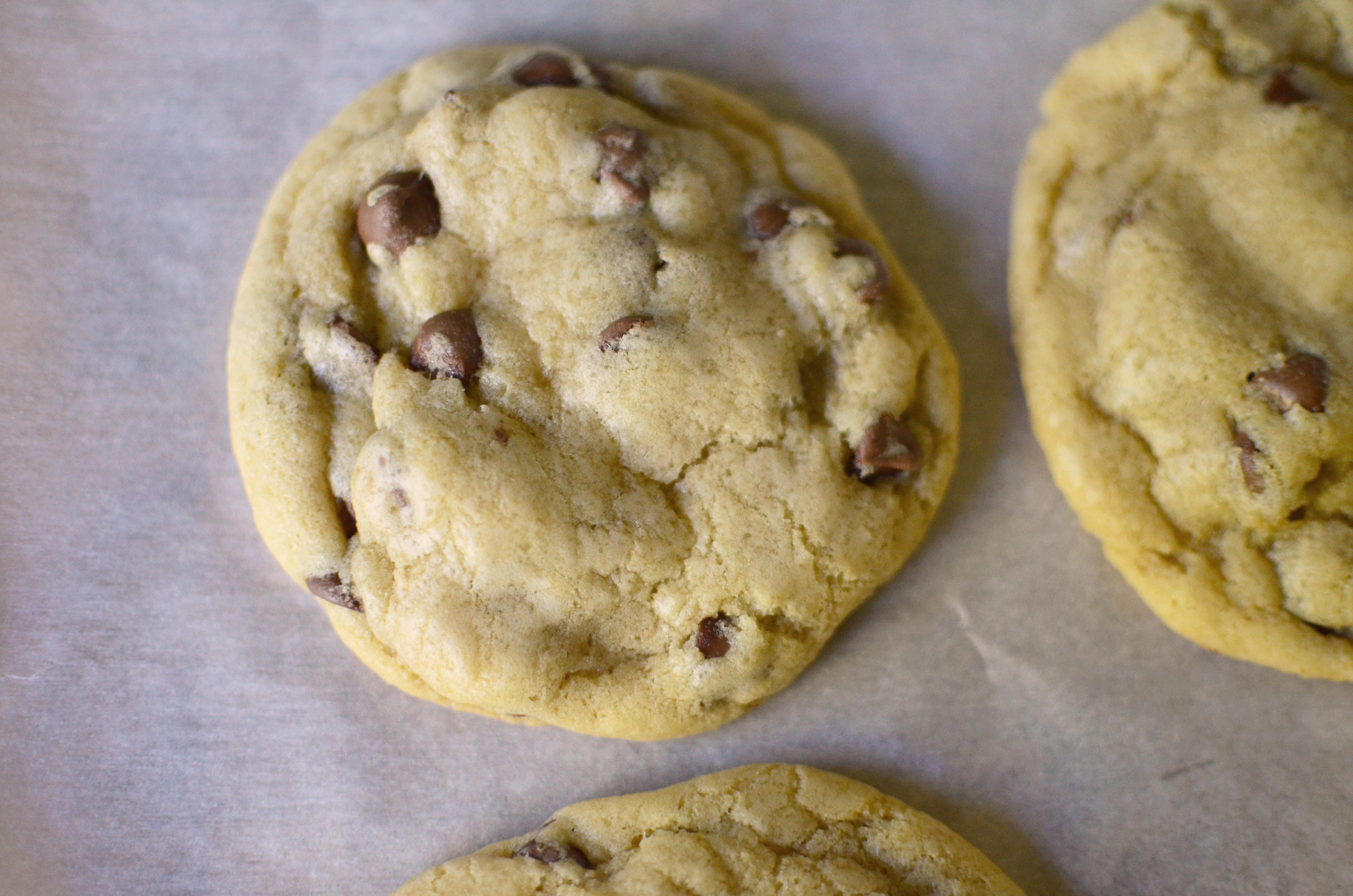 Big and Chewy Chocolate Chip Cookies aerial 3