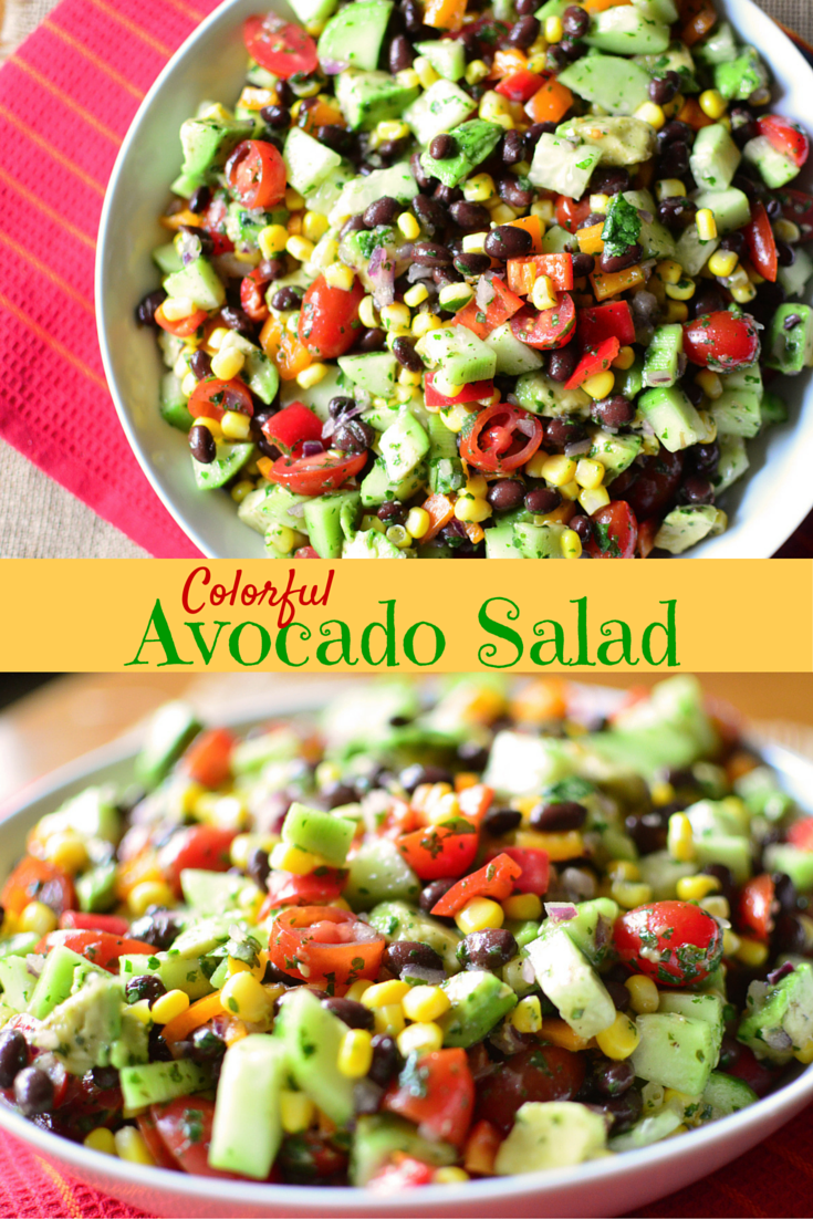 Colorful Avocado Salad text 2
