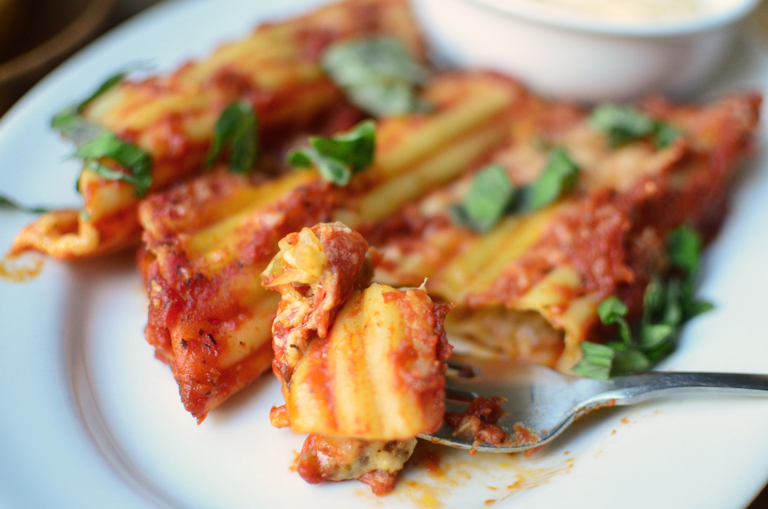 7 Manicotti bite hero