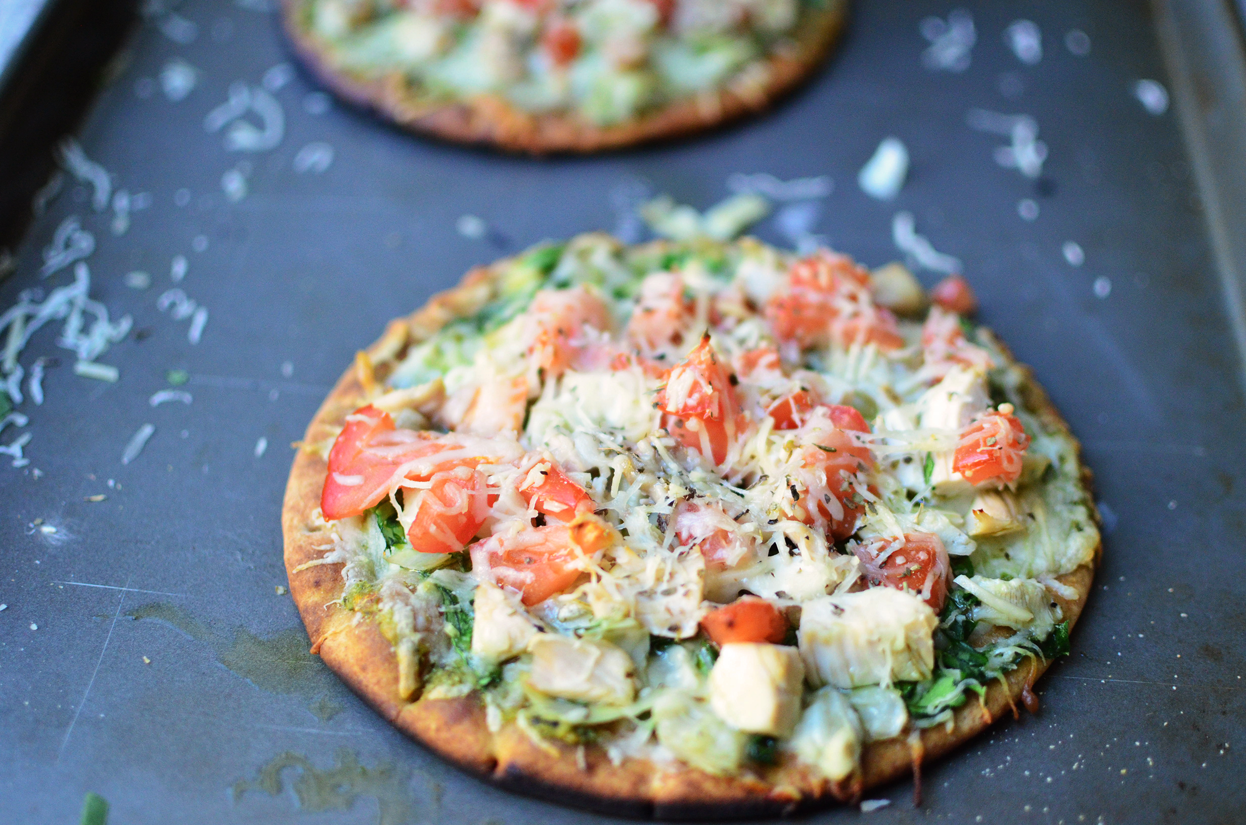 Grilled Spinach and Artichoke Pesto Pizza - Simple, Sweet ...