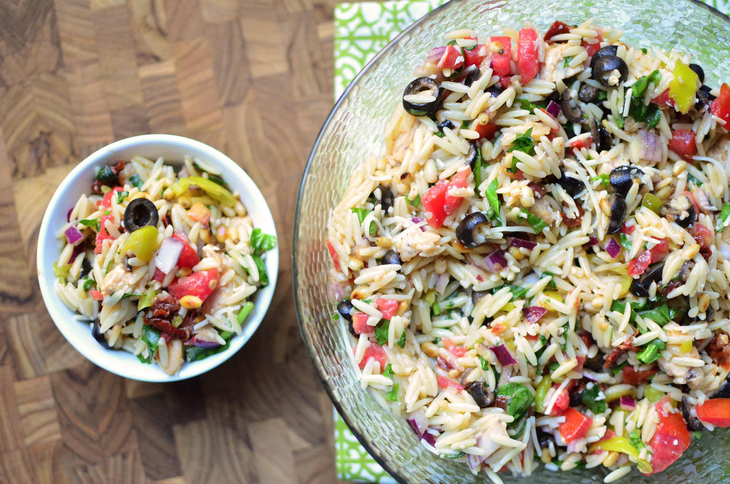 recipe: chicken florentine salad with orzo pasta [2]