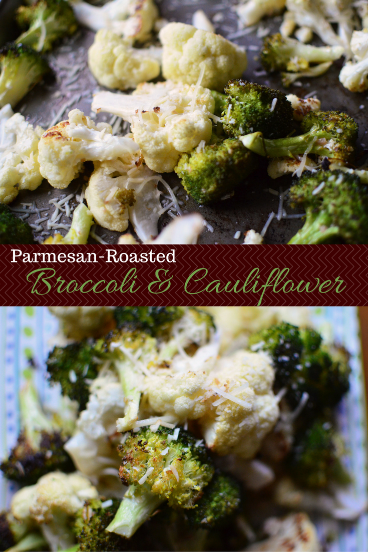 Parmesan-Roasted Broccoli and Cauliflower pinterest