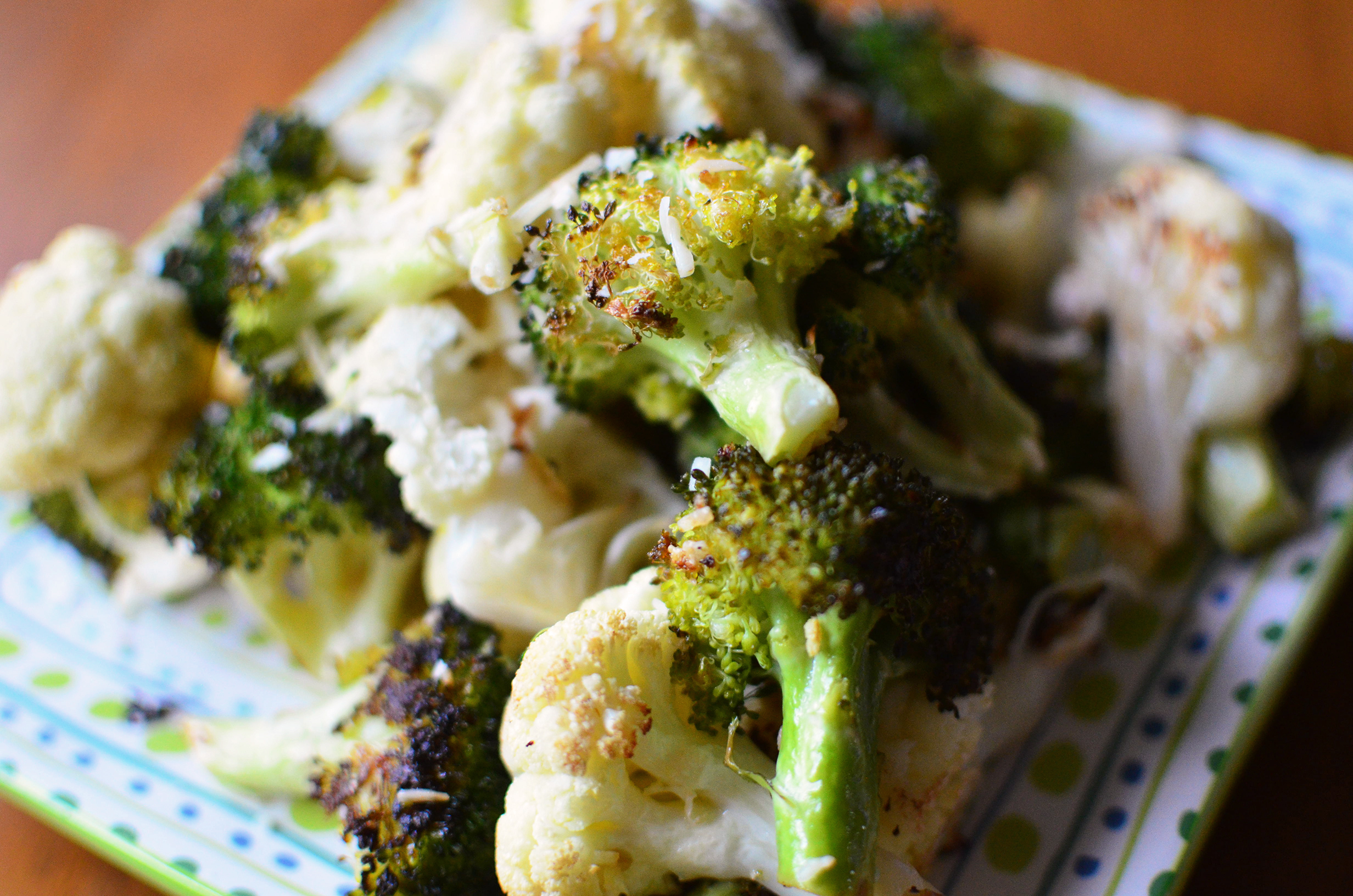 Parmesan Roasted Broccoli and Cauliflower side