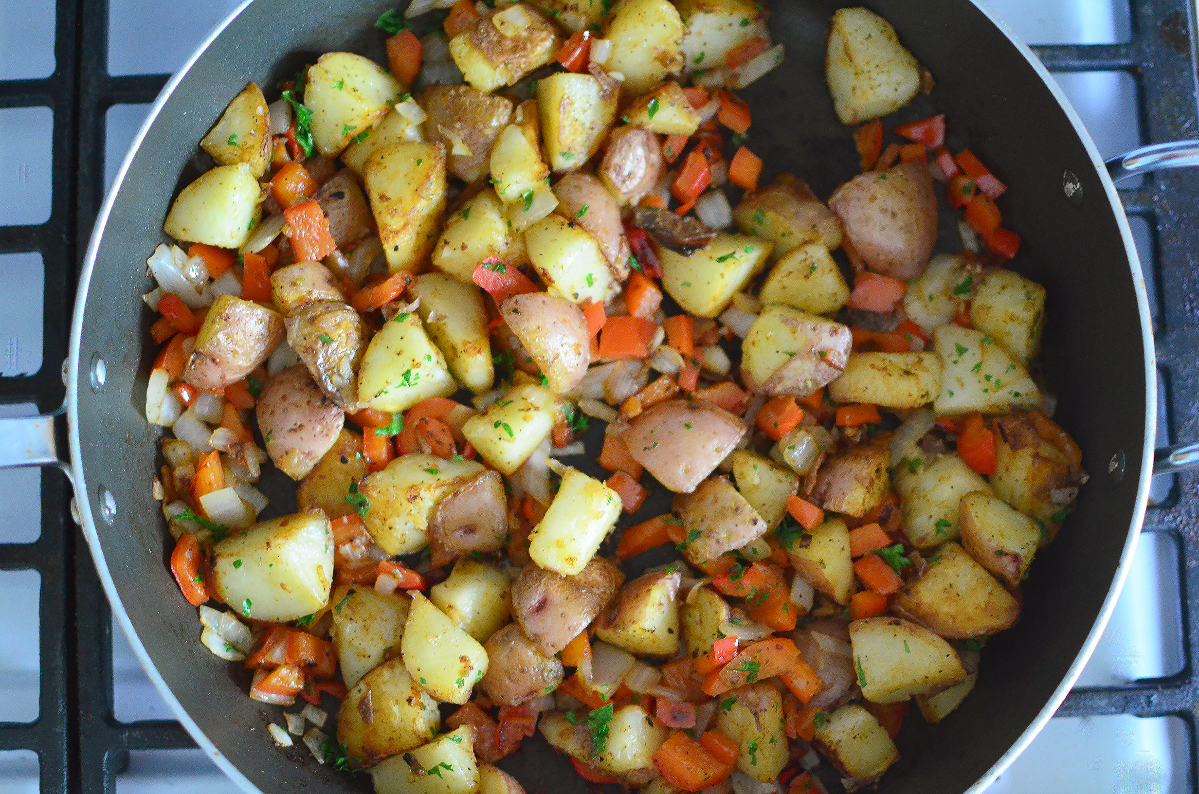 Quick and Easy Breakfast Potatoes aerial
