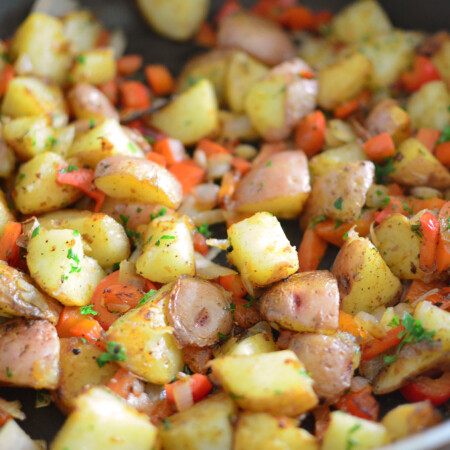 Quick and Easy Breakfast Potatoes side close