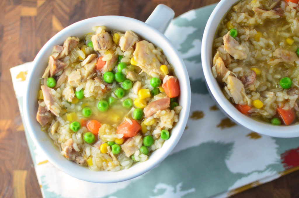 loaded-turkey-and-rice-soup-aerial
