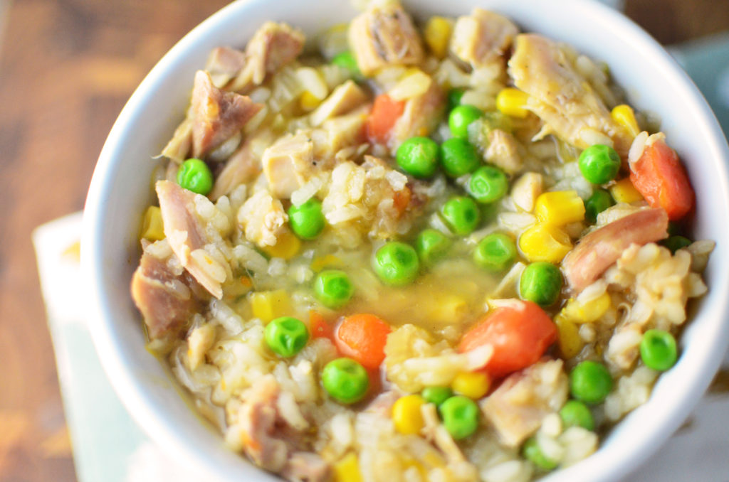 loaded-turkey-and-rice-soup-aerial-close