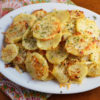 Baked Garlic and Parmesan Potato Rounds