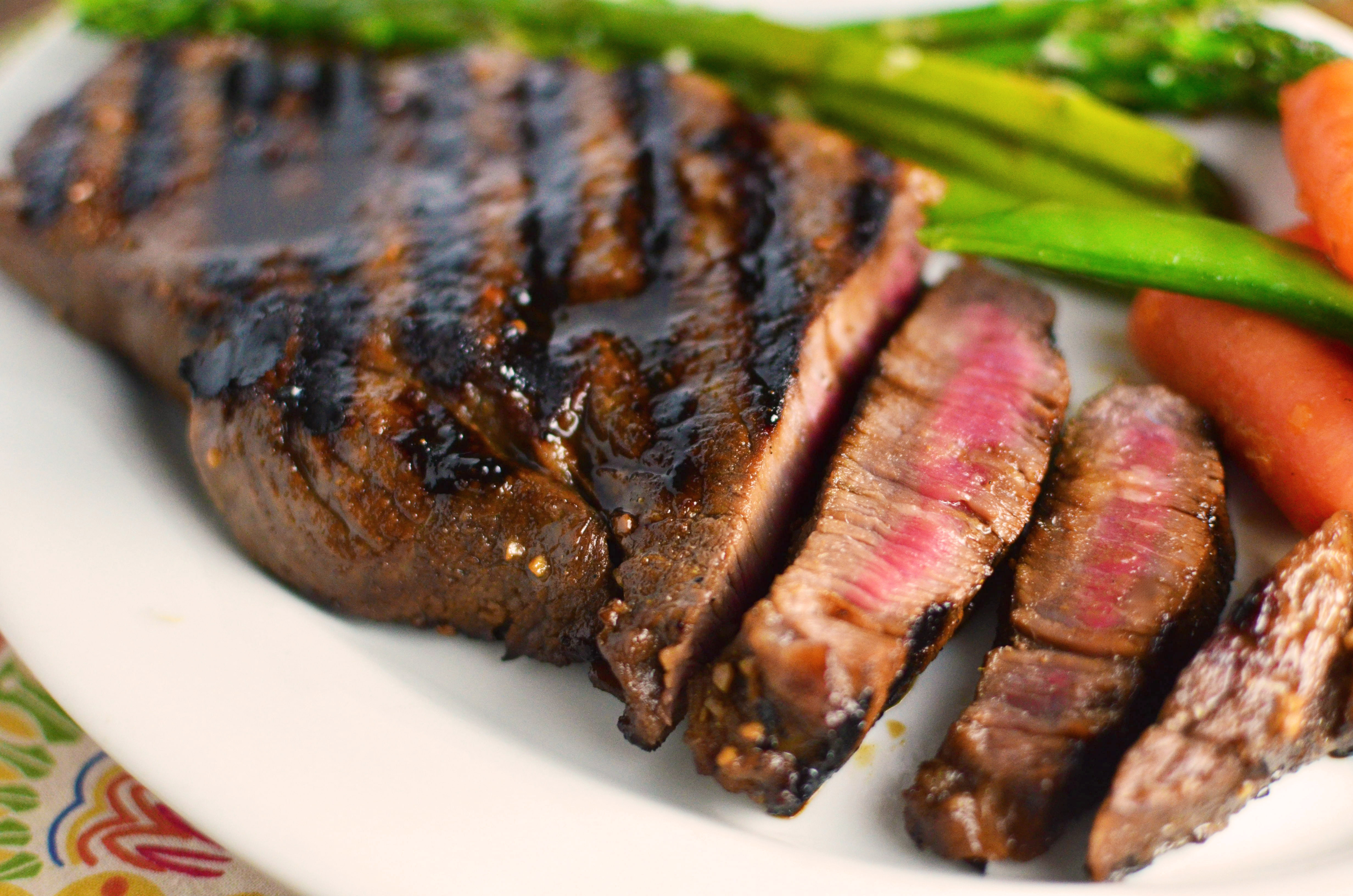 Teriyaki Marinated Steak - Simple, Sweet & Savory