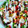 Grilled Chicken Salad with Poppy Seed Dressing
