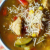 Chicken and Summer Vegetable Quinoa Soup