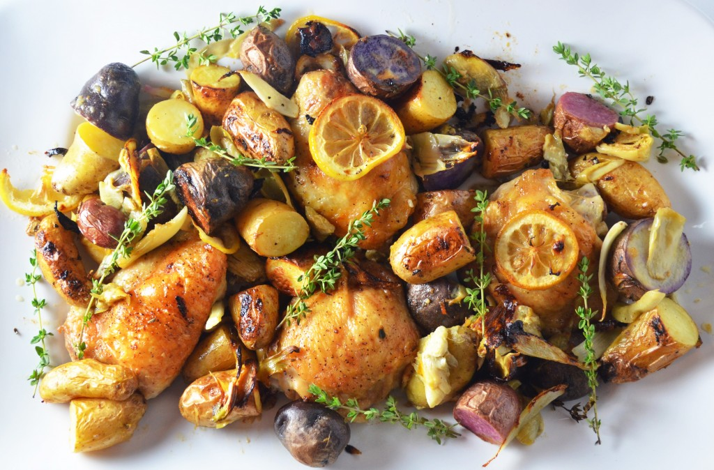 Lemon Roasted Chicken With Artichokes Fennel And